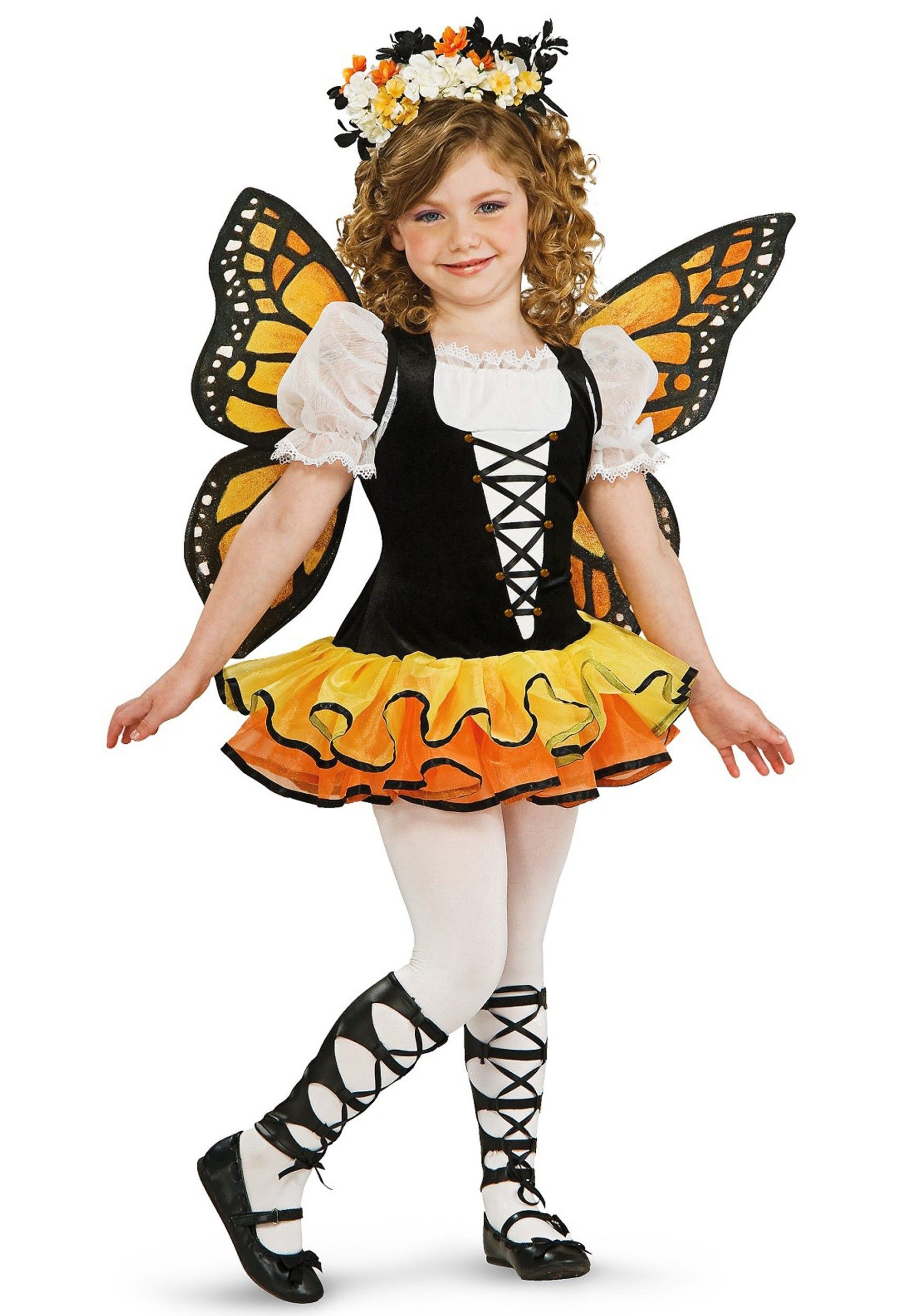 Fantasia Infantil Borboleta Amarela e Preta Halloween Carnaval ...