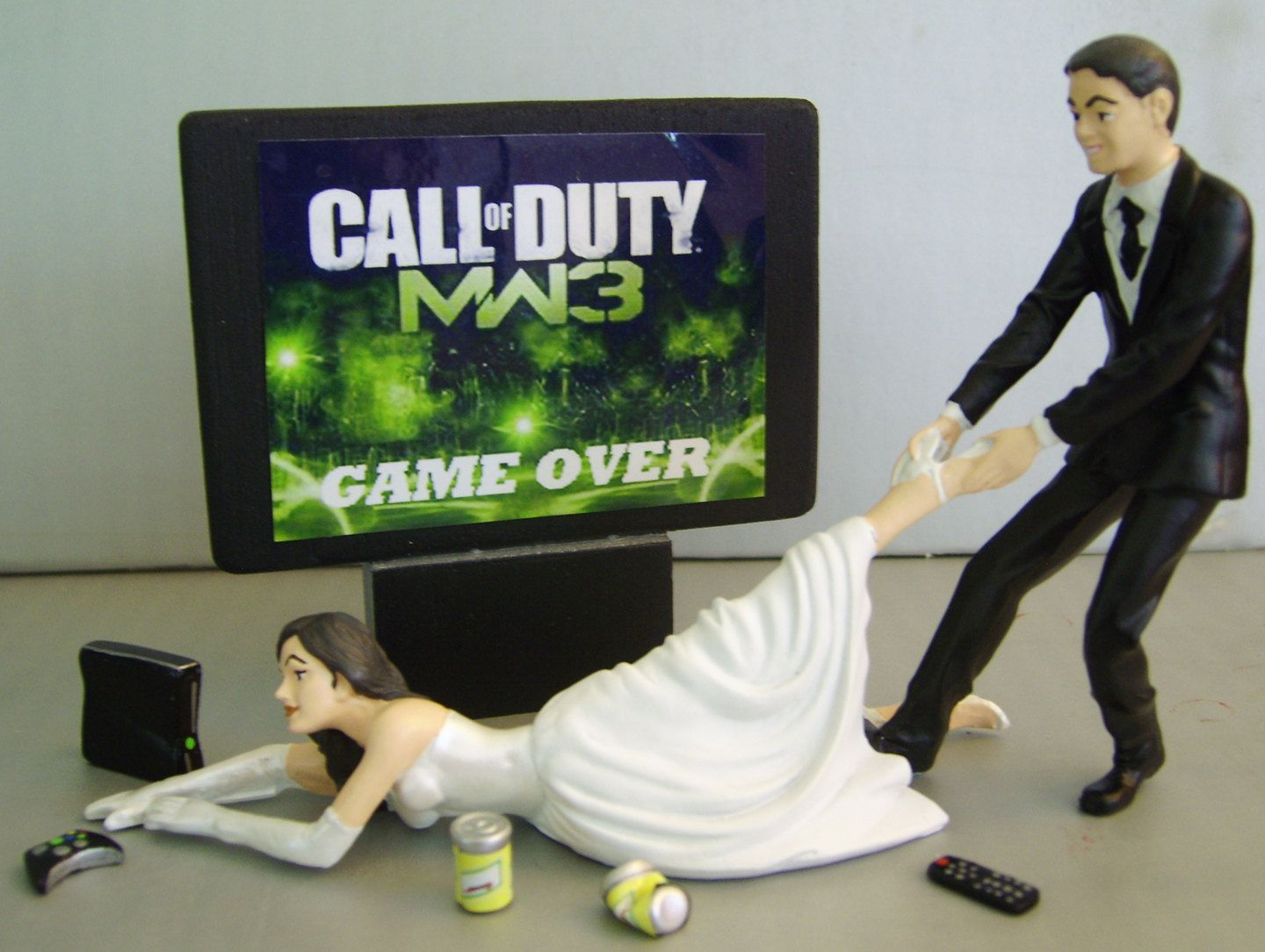 Video Junkie Bride Customized Wedding Cake Topper New Design The