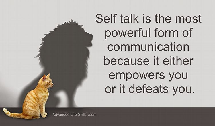 wise words about self talk | Quotes to live by, Self talk