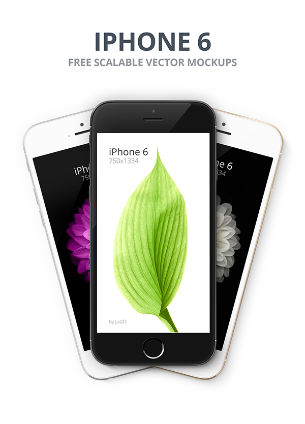 Iphone 6 Free Scalable Mockups Front 3 4 Views On Behance Free Iphone 6 Iphone 6 Free Iphone