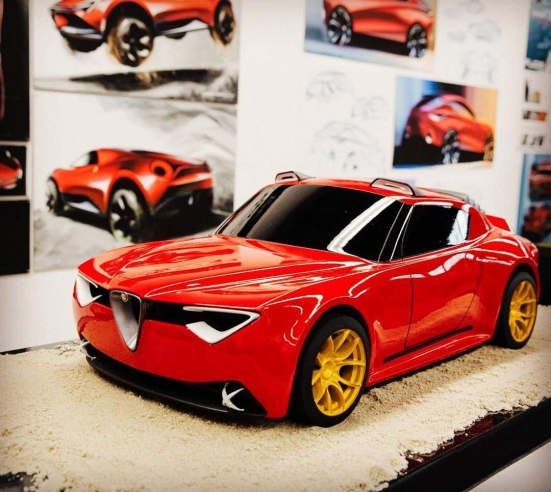 Alfa Romeo Vettore concept created by Charlie Angulo. #AlfaRomeoclassiccars #cla…