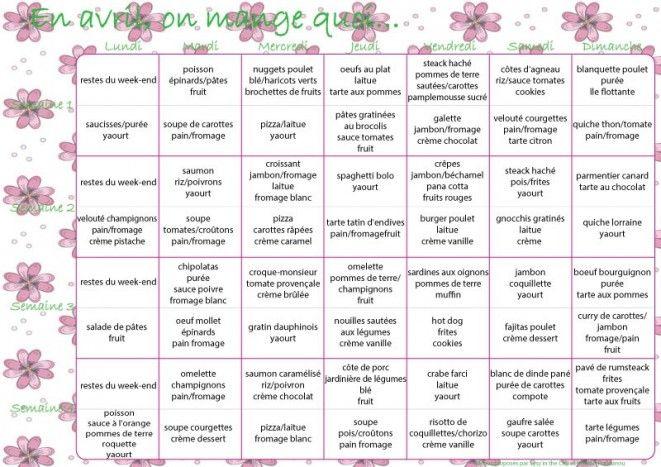 menus mensuels sant dans l 39 assiette menu diet menu. Black Bedroom Furniture Sets. Home Design Ideas