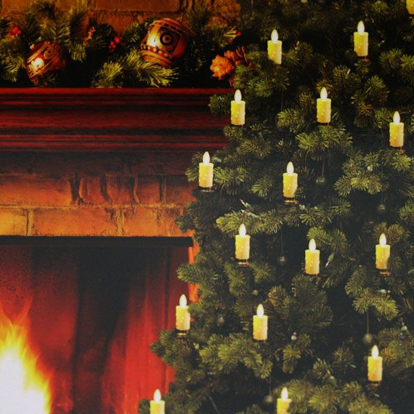 moving flame christmas tree candle strand set of 5 candles 6 foot light strand