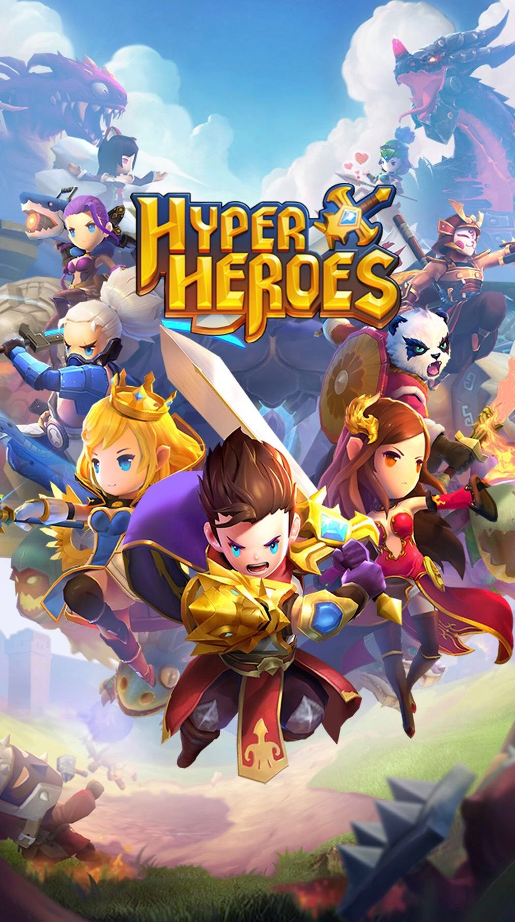 Hyper Heroes game character graphics 게임