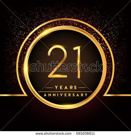 Twenty One Years Birthday Celebration Logotype St Anniversary - 21st birthday invitation card background