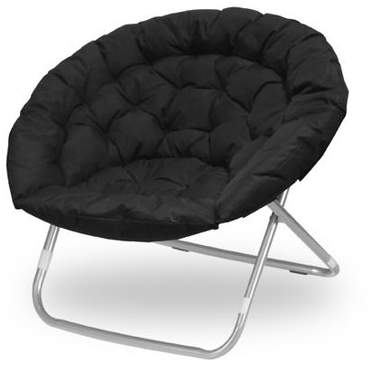 Urban Shop Black Oversized Faux Fur Moon Chair Available In Multiple Colors Walmart Com Moon Chair Saucer Chairs Urban Shop