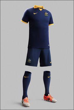 Australia 2014 World Cup Away Shirt Uniformes De Futbol Uniformes Remeras De Futbol