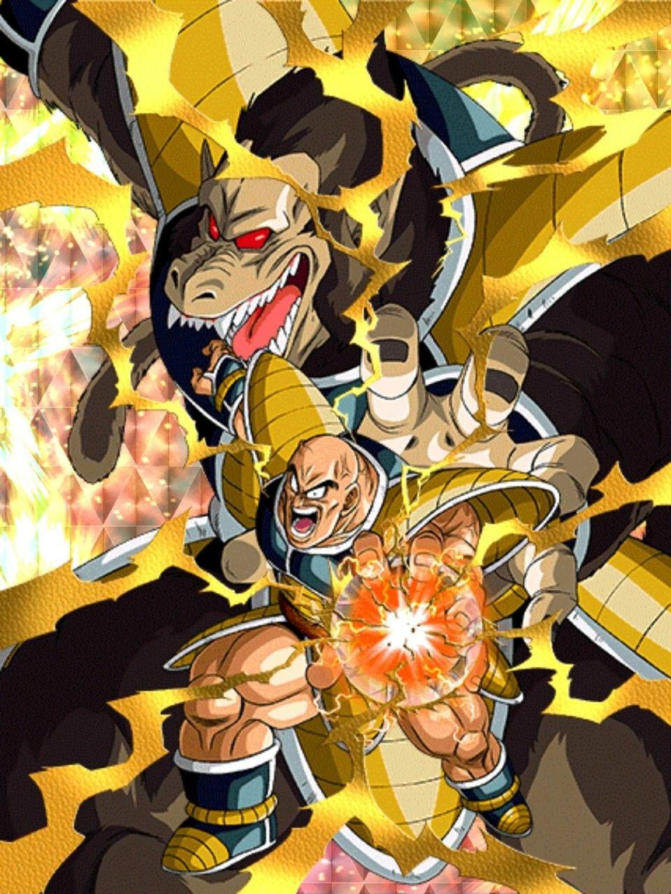 Nappa and his Oozaru form Dragon ball art, Anime, Dragon