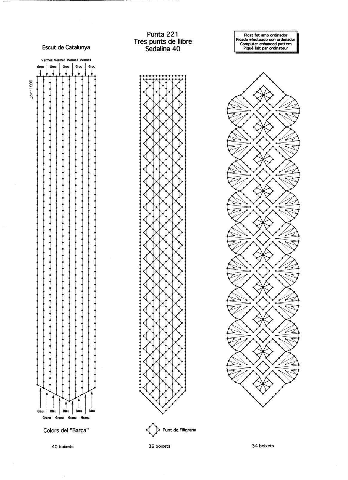 Resultado de imagen de encaje de bolillos patrones gratis | bolillos ...