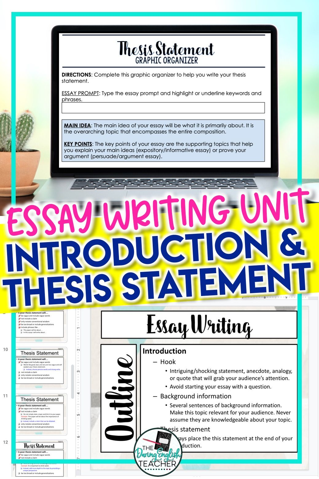 Digital Essay Writing: Introductions and Thesis Statements for