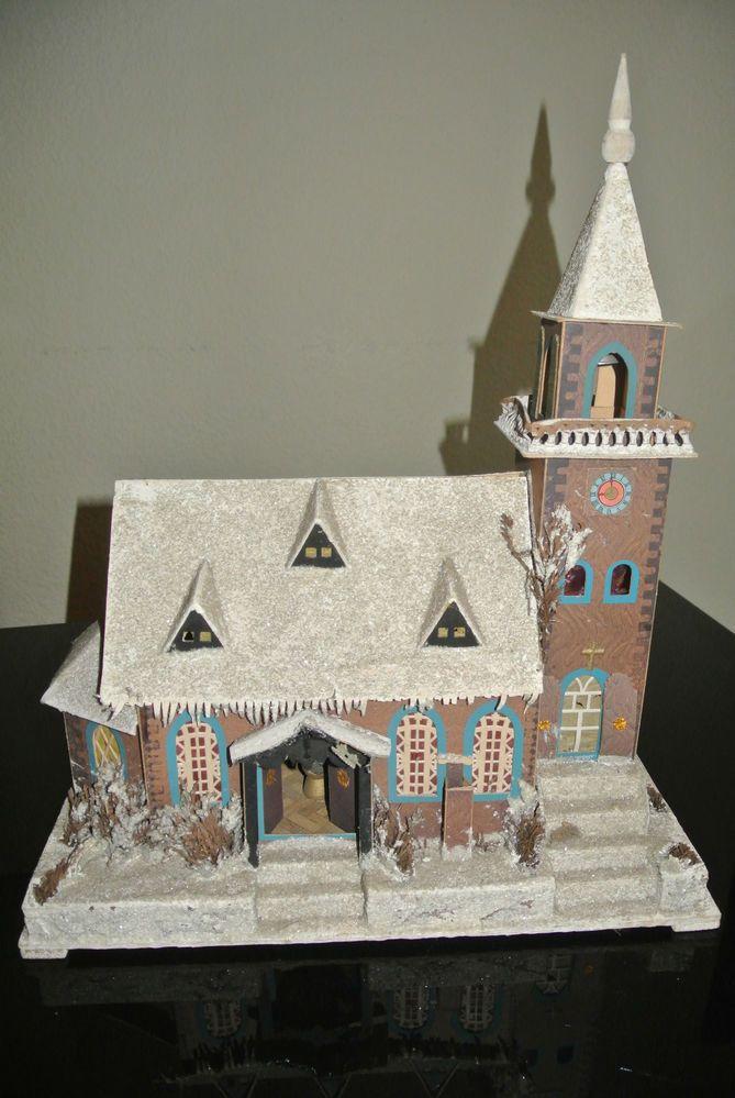 Details Zu Altes Lichterhaus Kirche Erzgebirge Um 1960 Christmas