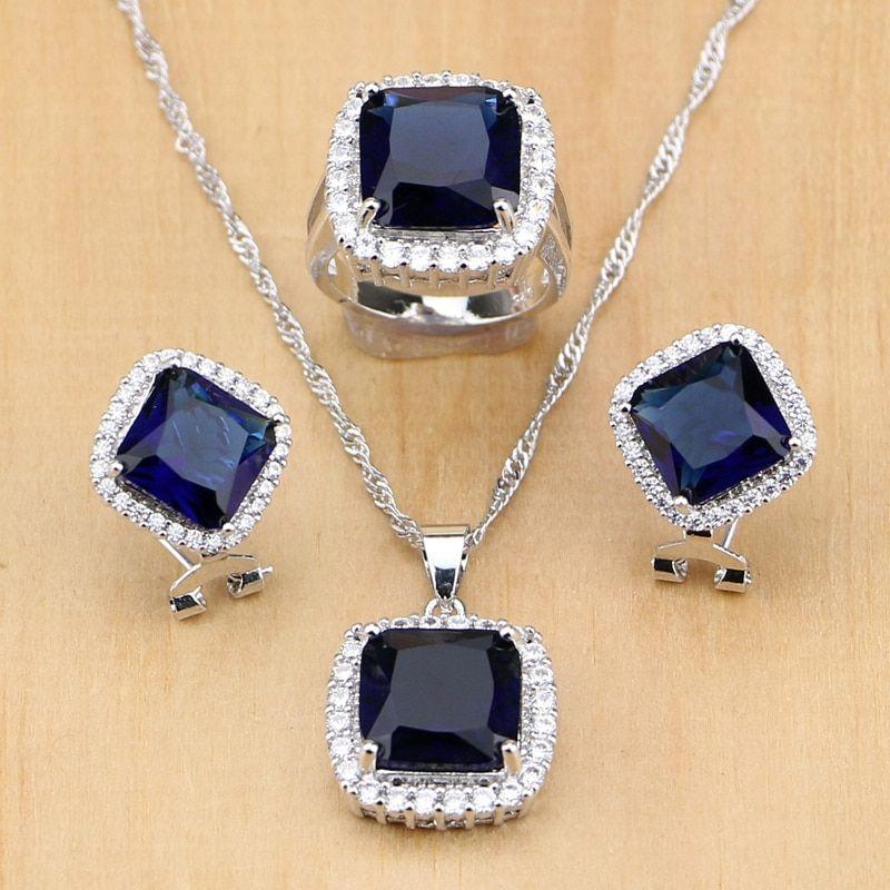 CZs Earrings Pendant Necklace