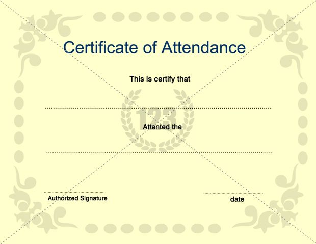 Attendance Certificate Template Free Attendance Certificate Template 24 Free  Word Pdf Documents, Perfect Attendance Award Certificates, 13 Best Images  Of ...  Attendance Certificates Free Templates
