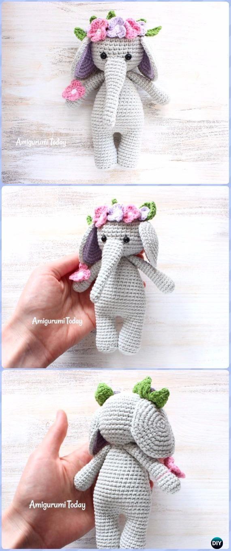 Crochet Cuddle Me Elephant Amigurumi Free Pattern - Crochet Elephant ...