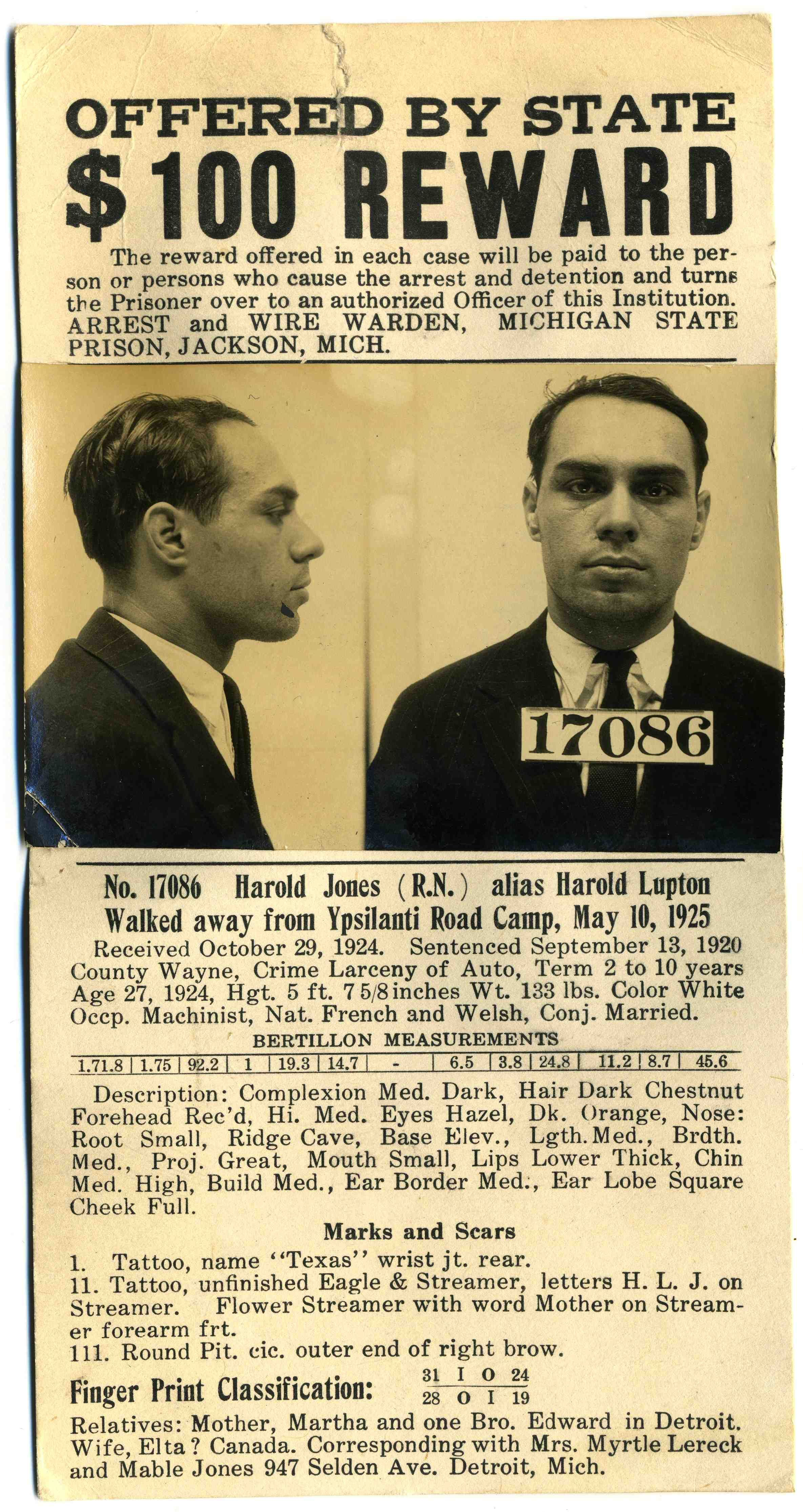 wanted posters with real photos 1920s
