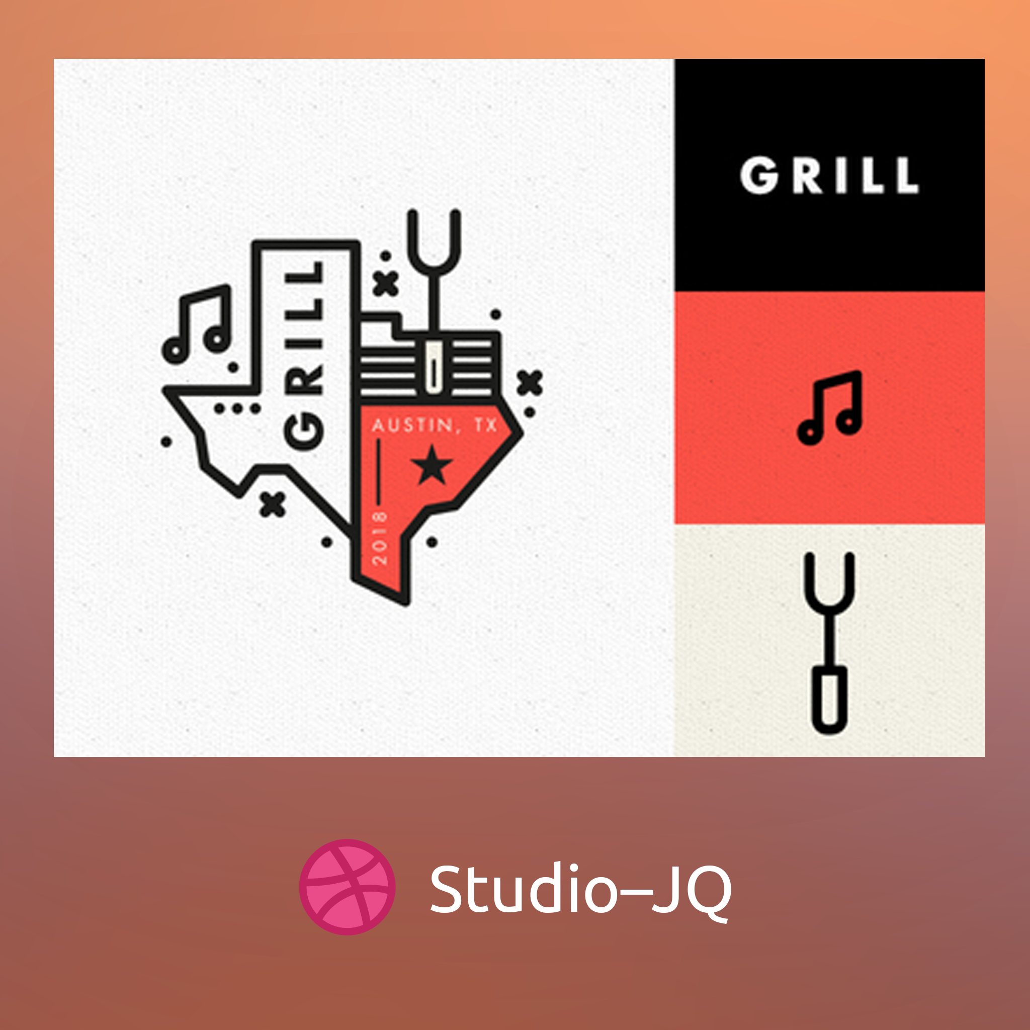 Dribbble post by StudioJQ Design, Instagram photo