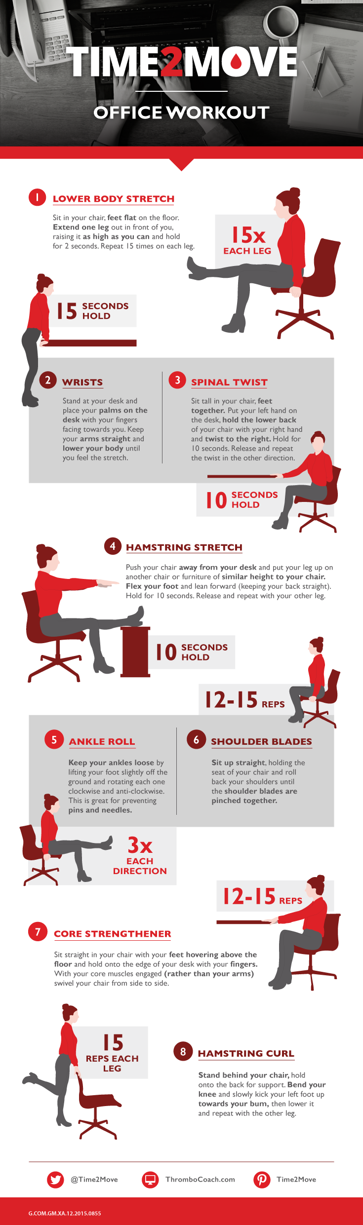 How Office Yoga Can Improve Well Being The Office Doesnu0027t Just Have To Be  For Work; It Can Be For A Workout Too. All You Need Is Your Chair, Your Desk  And ...