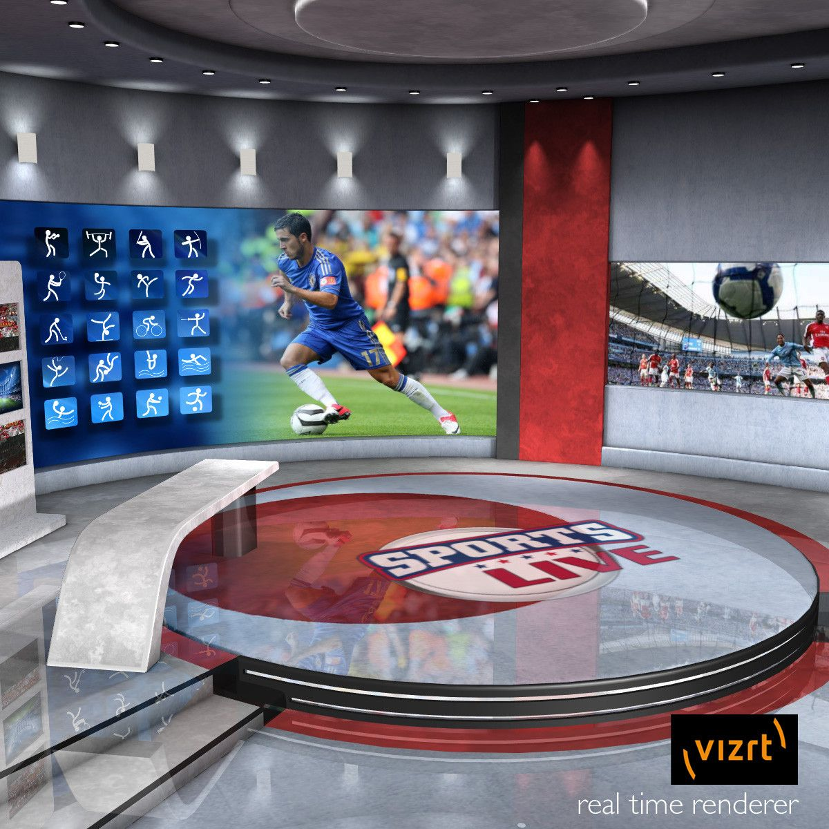 3ds max real time sports studio Tv decor, Studio, Virtual