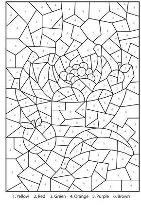 Free Printable Color By Number Coloring Pages For Adults Color Coloring Books Color By Number Printable Math Coloring Worksheets