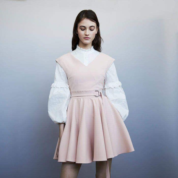 655ec7cdf415 RIMAE Sleeveless crepe skater skirt | Products | Dresses, Maje, Skirts