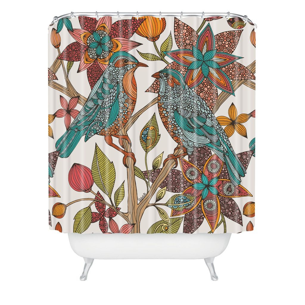 Valentina Ramos Lovebirds Shower Curtain | DENY Designs Home Accessories