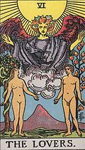 The Lovers Tarot card upright and reversed meaning by The Tarot Guide, The Lovers reversed, Tarot card meanings, Major Arcana, The Lovers tarot card, The Lovers tarot meaning, The Lovers tarot reading,Tarot The Lovers, The Lovers Tarot reversed