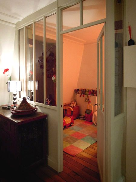 D tail verri re int rieur chambre enfant verriere for Verriere interieur bois