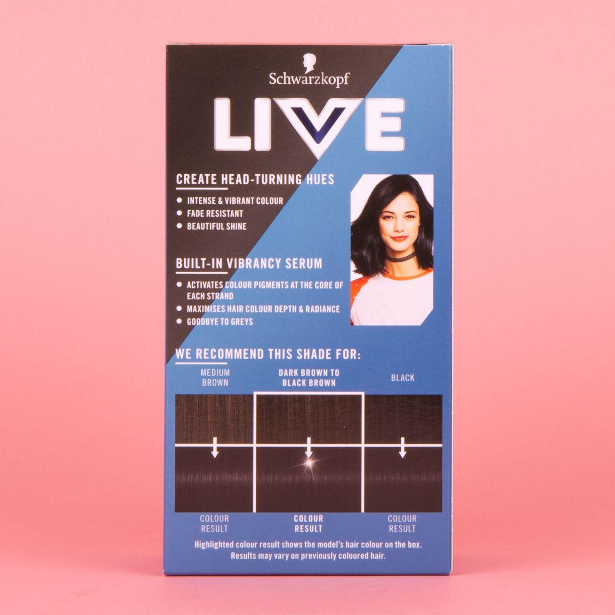 Schwarzkopf Live Permanent Hair Colour   Deep Black Gallery
