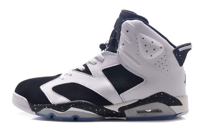 Nike Size 14 15 16 Air Jordan 6 Hombre Negro Blanco Zapatillas De  Baloncesto 1f8f1468f
