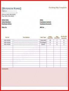 Packing Slip Template  Az Templates    Template And