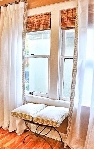 Diy Greek Key Drapes Ikea Drapes Curtain Decor Curtain Trim