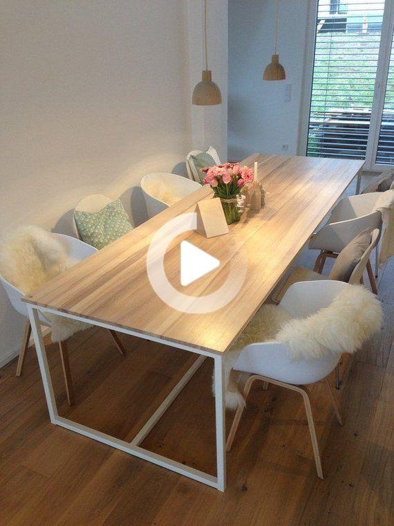 Tisch Grosser Esstisch Kuchentisch Holztisch Schreibtisch Schreibtisch Einzigartig In 2020 Kuche Tisch Grosser Esstisch Holztisch