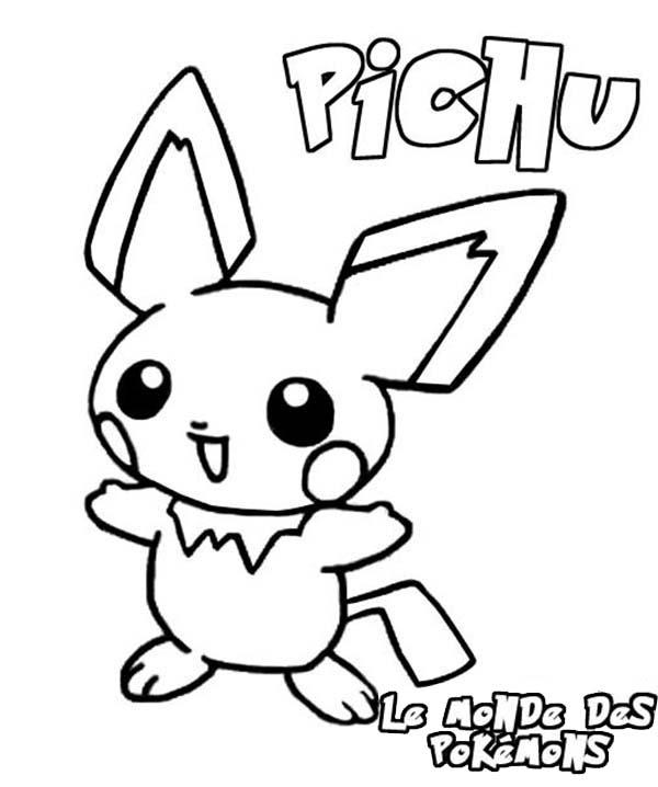 Pokemon Pichu Coloring Pages Bulk