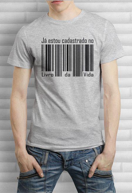 Camiseta Estou Cadastrado  bdd707e82ed