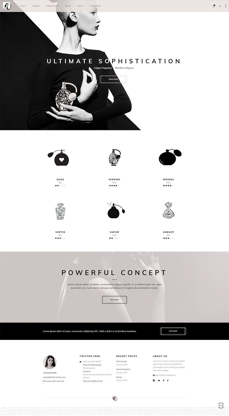 Make stunning online store using this layout from our