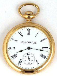 96ddfa5fc Dueber Swiss Mechanical Pocket Watch, High Polish Gold Open Face Case,  Assembled in USA! Dueber Watch Co. $624.99