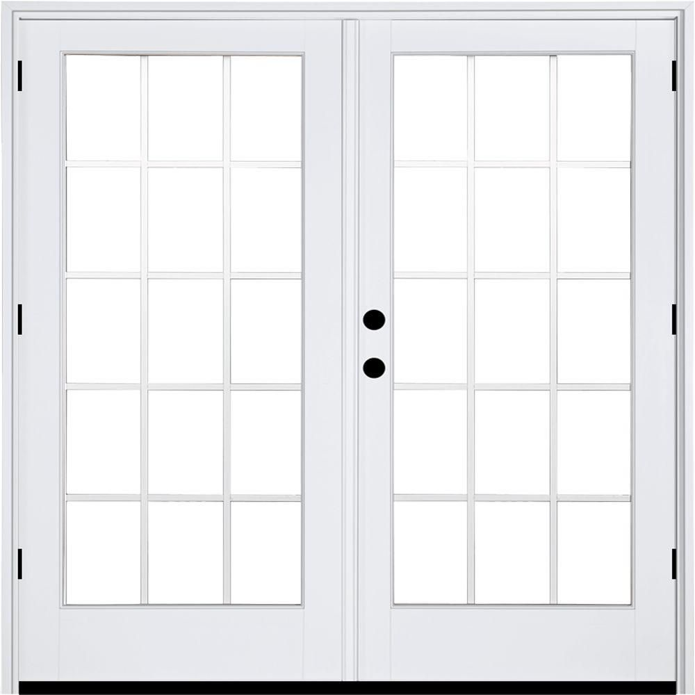 Mp Doors 72 In X 80 In Fiberglass Smooth White Right Hand