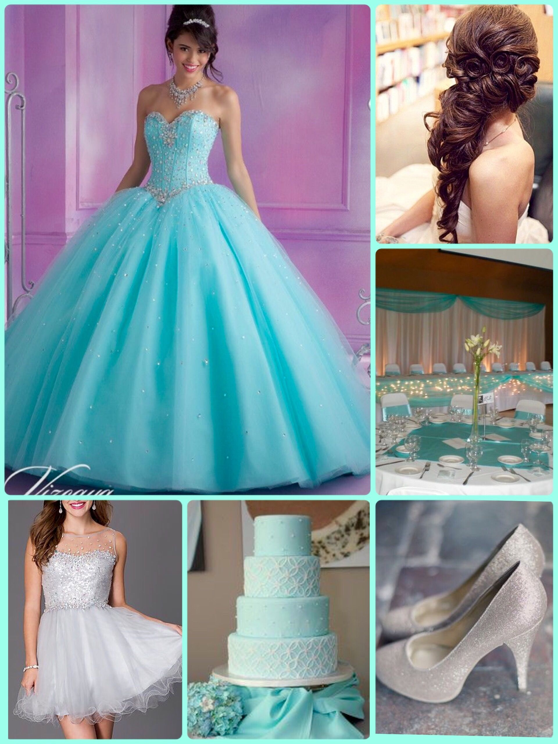 Aqua And Silver Theme... This is the theme I had for my quince! It ...