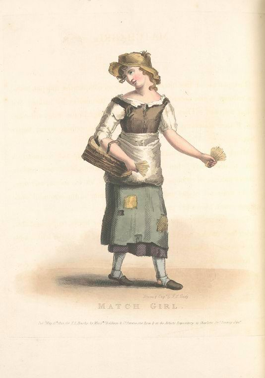 Match Girl 1820 Costumes Historical Clothing New York Public Library