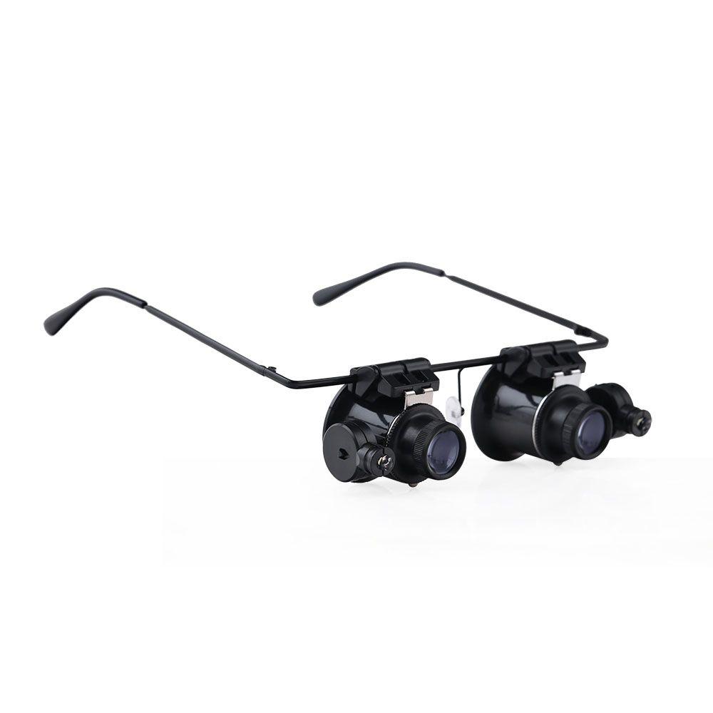 BIJIA cabeza/casco gafas de lectura lupa de la lupa con 2 luces led ...