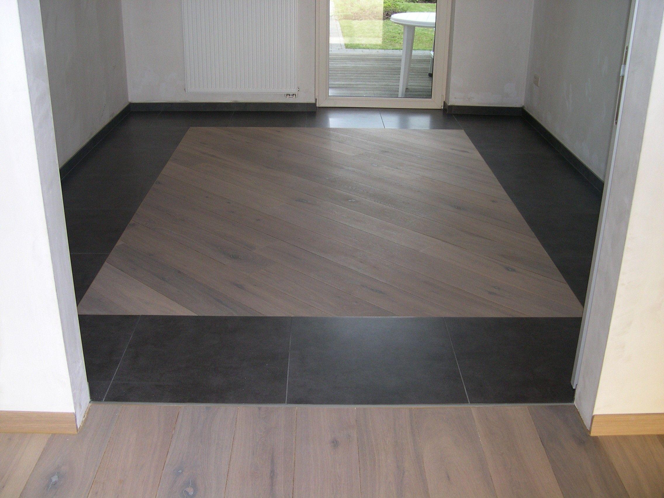 parket diagonaal tussen vloer te overpelt