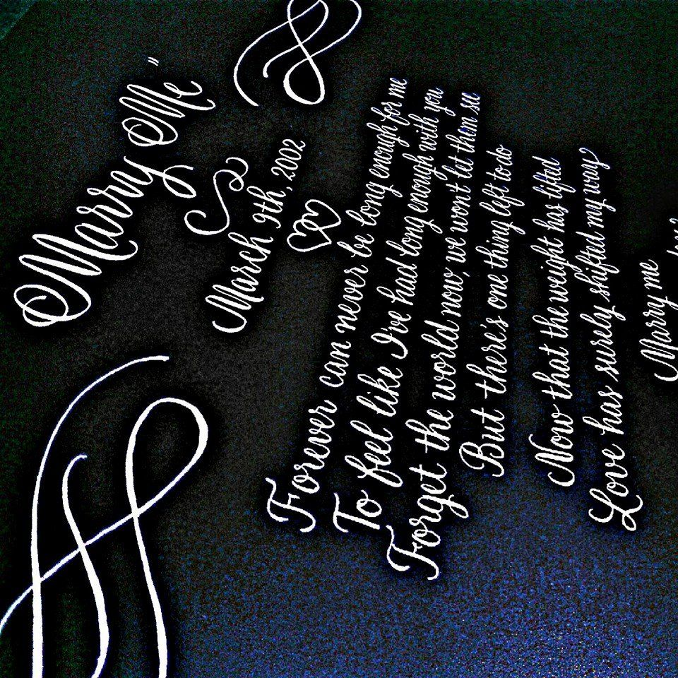 Completing this lovely song for a client Hand lettering