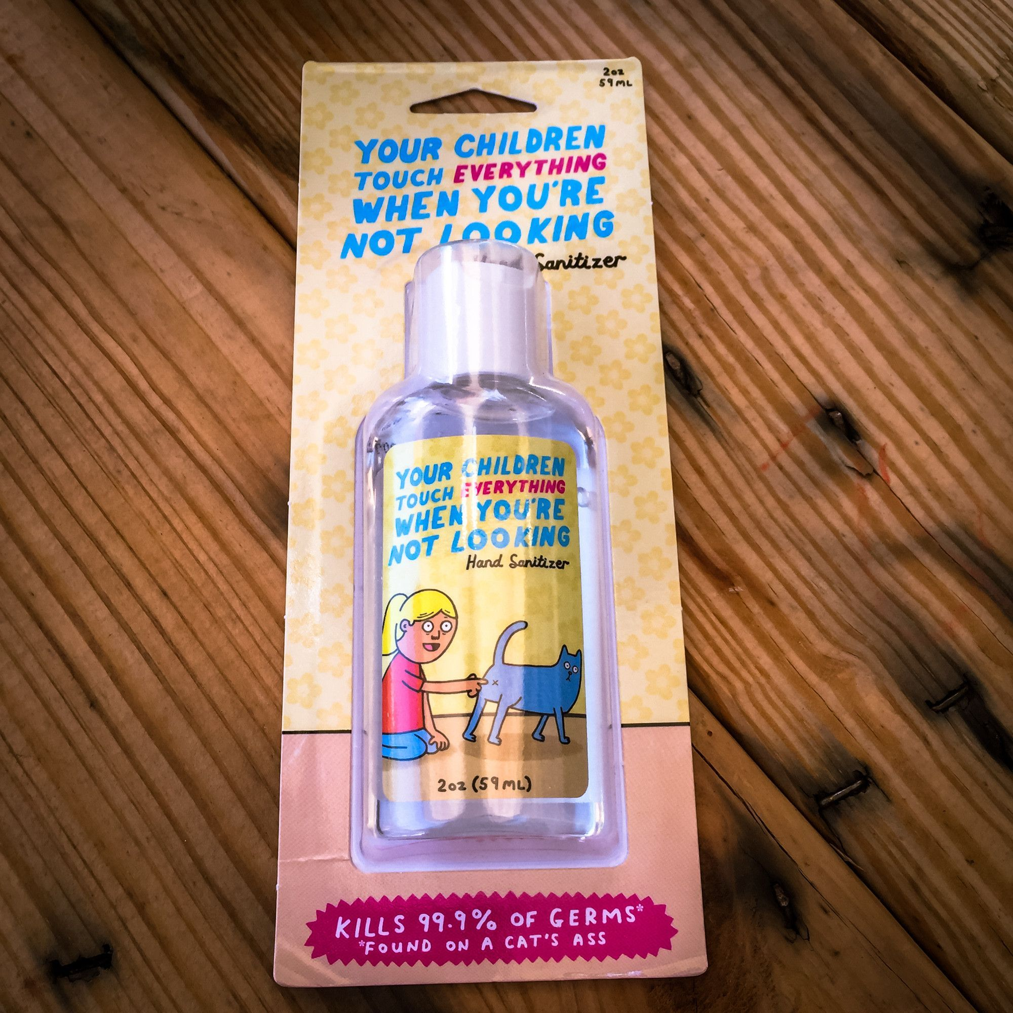 Walking Pants Curiosities Hand Sanitizer Touch Children