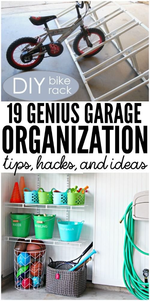 Garage Organization Tips   18 Ways To Find More Space In The Garage | Garage  Organization, Organizations And Organizing