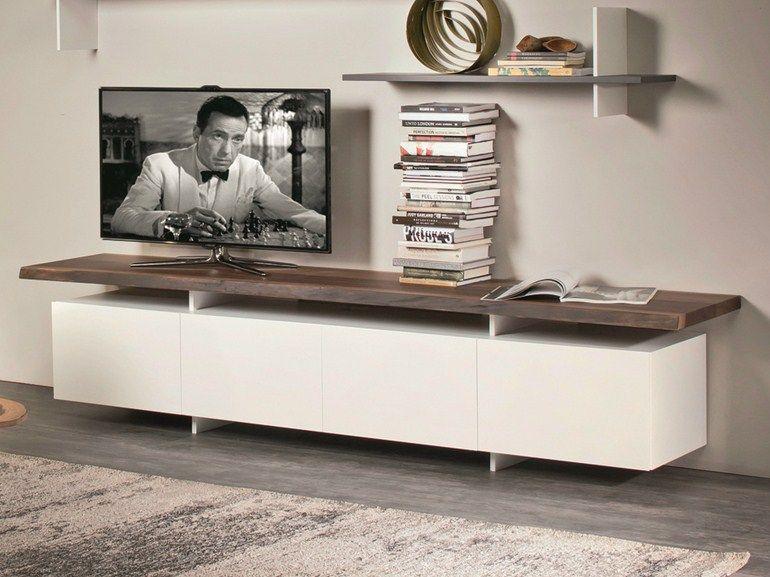 tv möbel aus holz seneca by cattelan italia design paolo cattelan