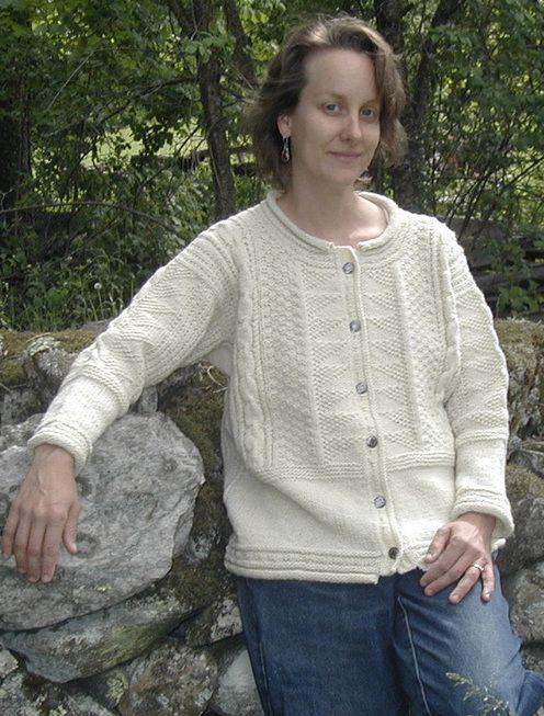 Knitting Traditions Beth Brown Reinsel Classic Gansey Cardigan