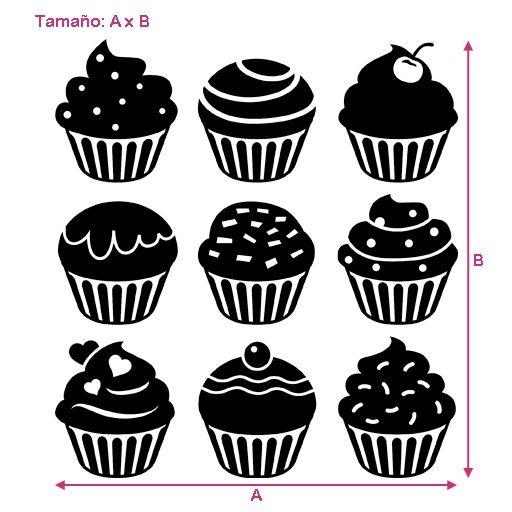 vinilo barato decorativo de cupcakes o pastelitos diferentes pegatina de cupcakes para decoracin de pasteleras
