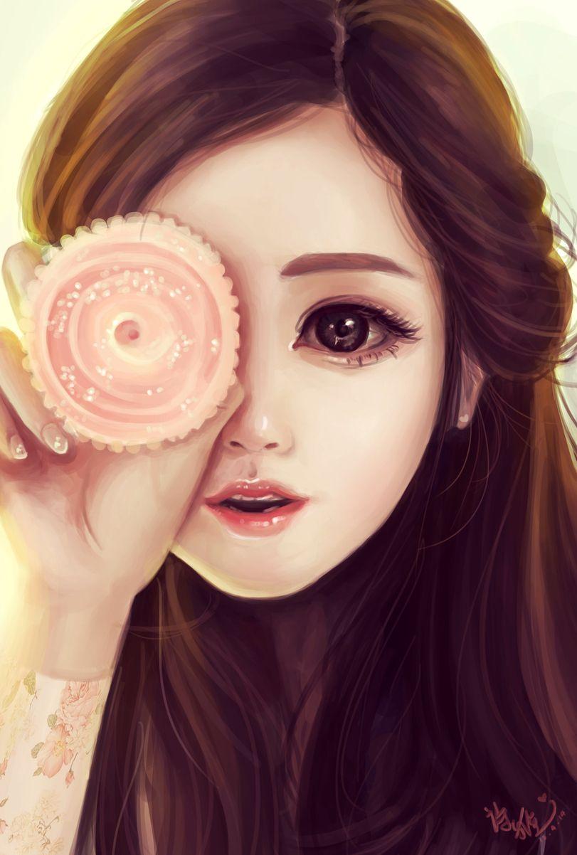 Картинки милые девочки рисунки