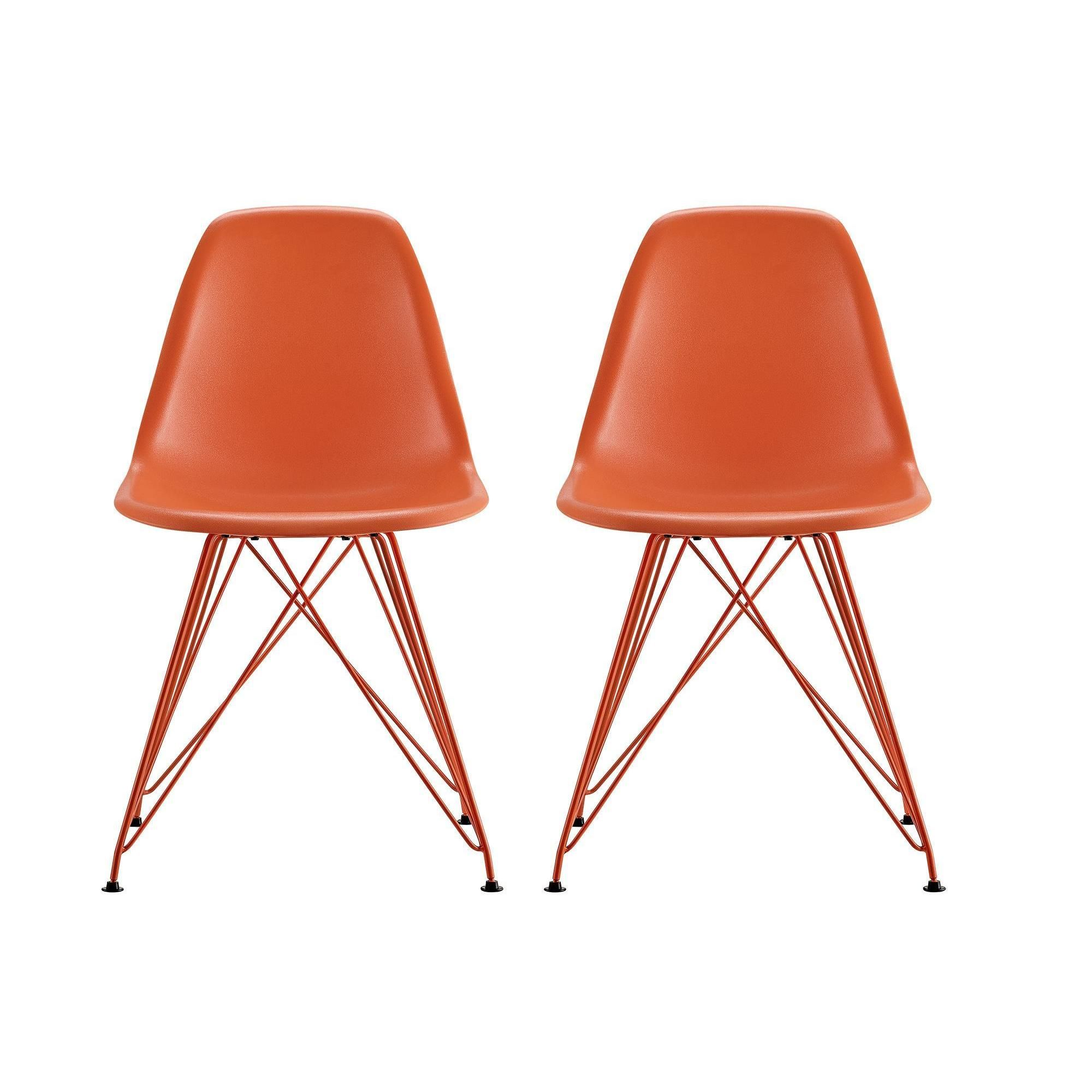 These chairs are modeled after eames iconic mid century for Iconic modern chairs