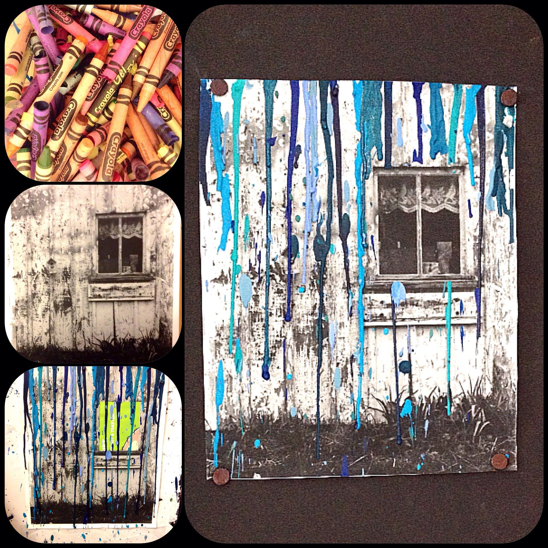Black And White Photography Melted Crayon Art